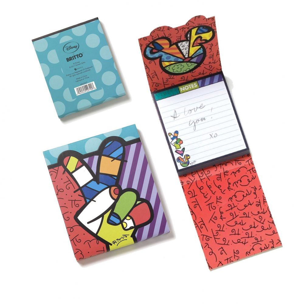 Carnet de notes Peace and Love Mickey, par Britto