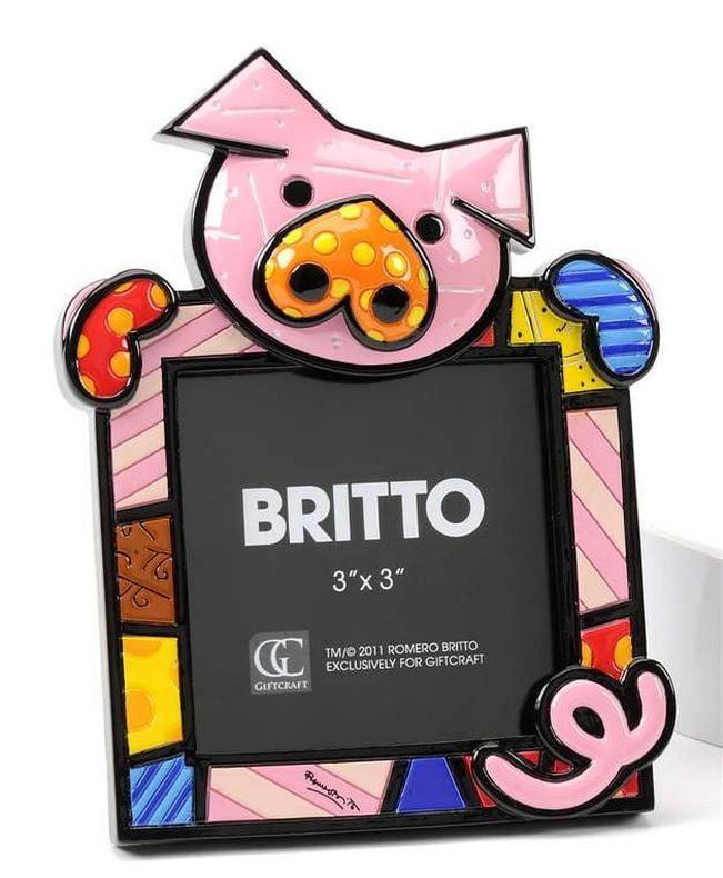 """Cadre Photo """"Cochon"""" de Romero Britto"""