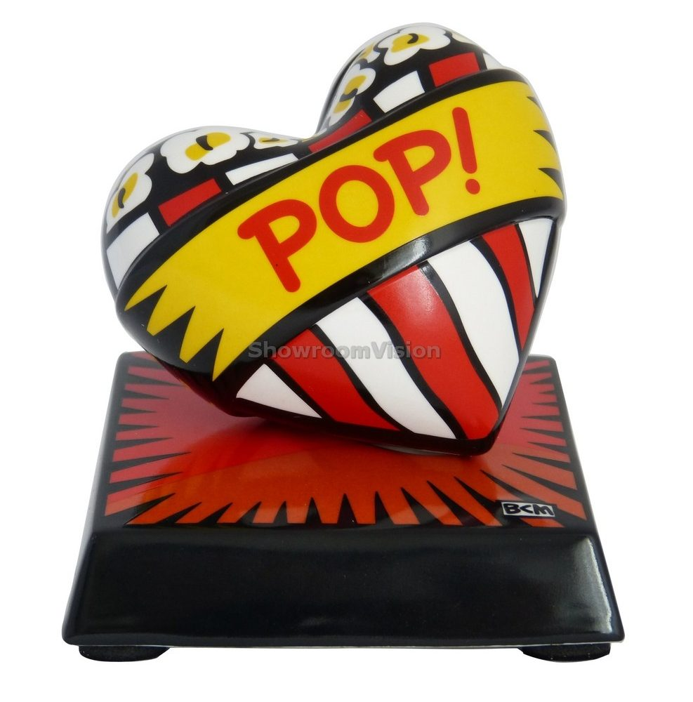 "Coeur ""Love Pop"" Rouge de Burton Morris"