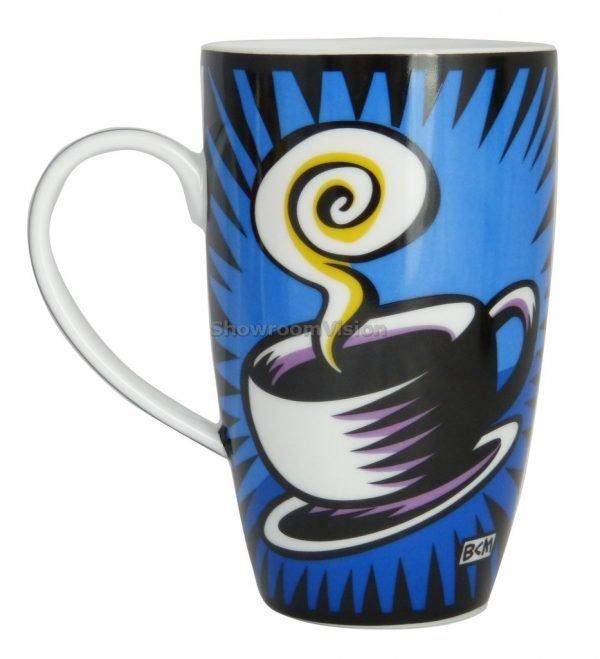 """Tasse """"Coffee Break"""" Bleue de Burton Morris"""