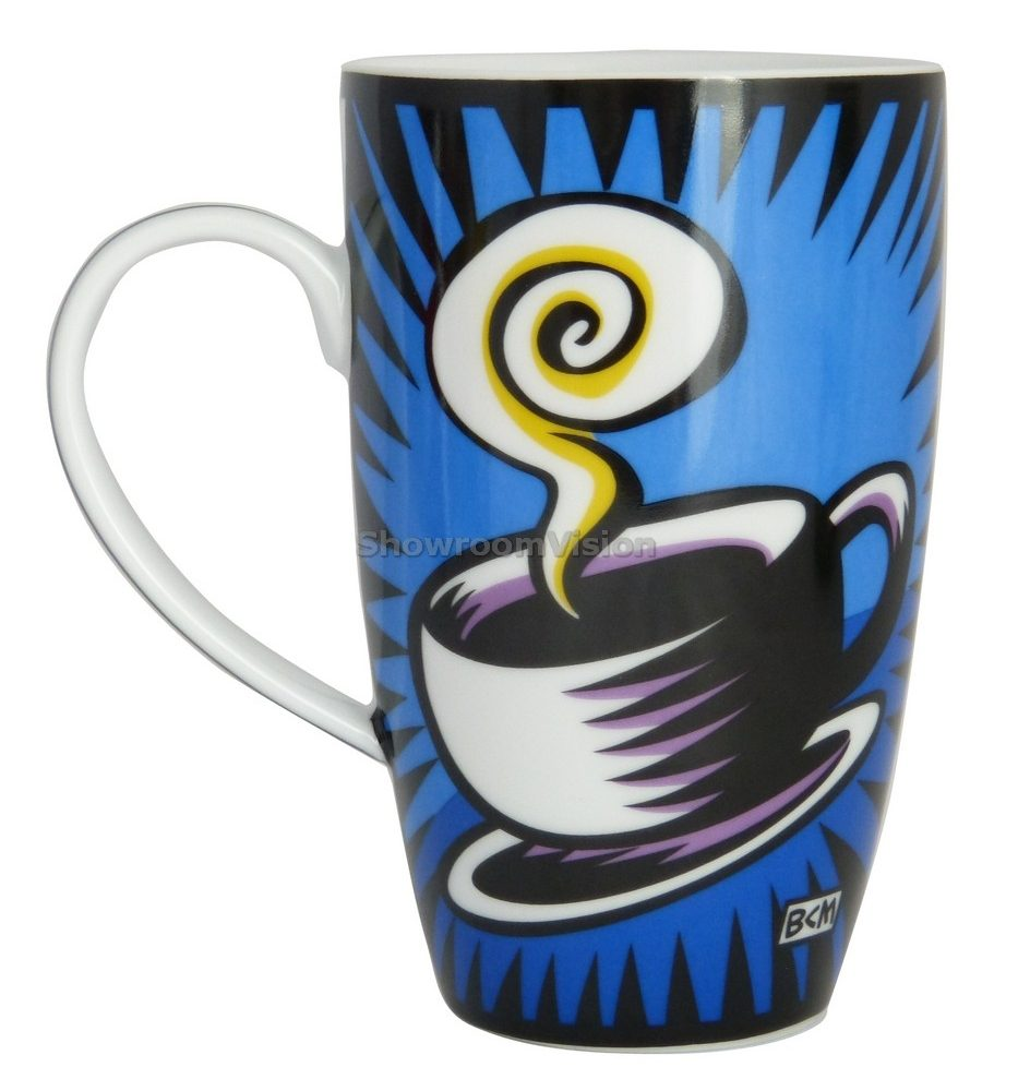 "Tasse ""Coffee Break"" Bleue de Burton Morris"