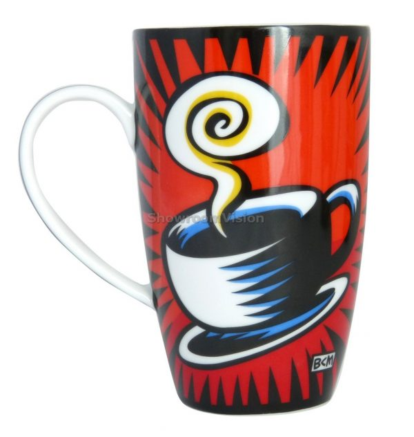 "Tasse ""Coffee Break"" Rouge de Burton Morris"