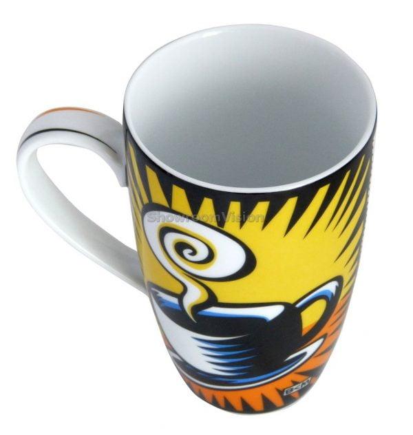 "Tasse ""Coffee Break"" Jaune de Burton Morris"