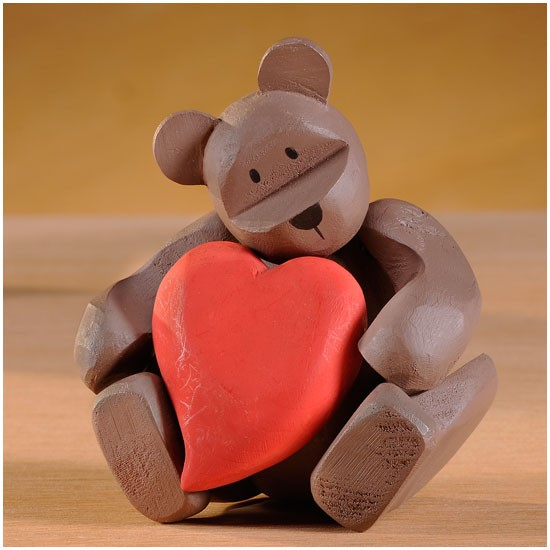 "Pozy Bear ""I Give You My Heart"" Ourson qui donne son coeur"