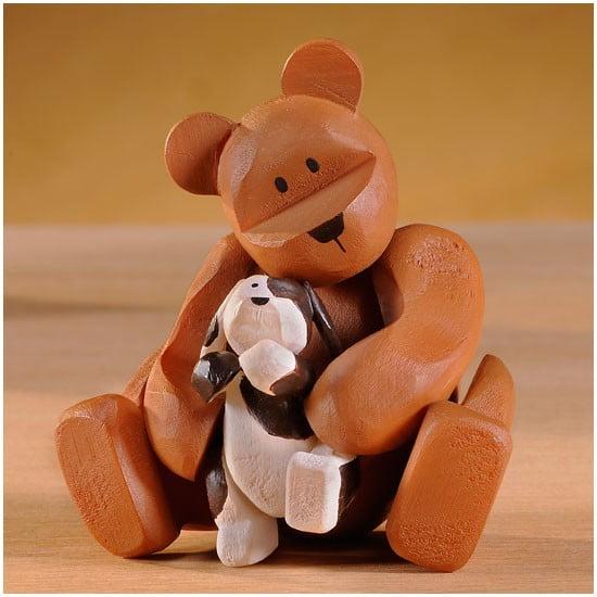 """Pozy Bear """"Puppy Love"""" Ourson avec bébé chien"""