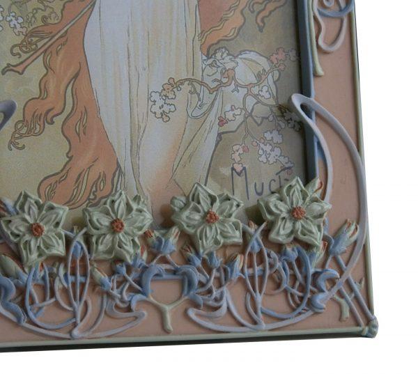 Alfons Mucha, Cadre photo Fleurs, MUC03