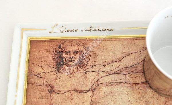 Tasse et soucoupe Leonard de Vinci
