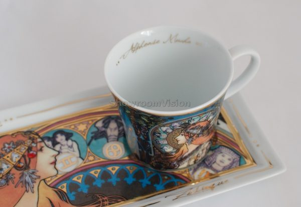 Tasse à café et soucoupe Alphons Mucha