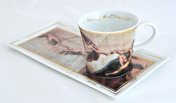 Tasse à café et soucoupe Michel-Ange