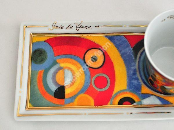 Tasse à café et soucoupe Robert Delaunay