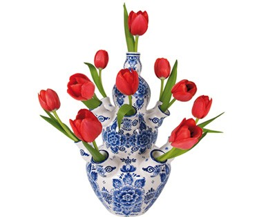 Flat Flower Originale Delft Rouge