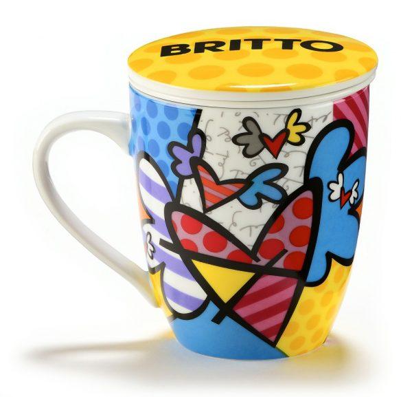 Mug avec infuseur thé Coeurs Britto
