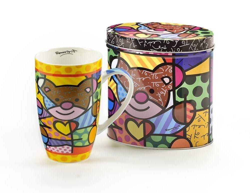 Mug Ours et boîte en Fer décorés Britto