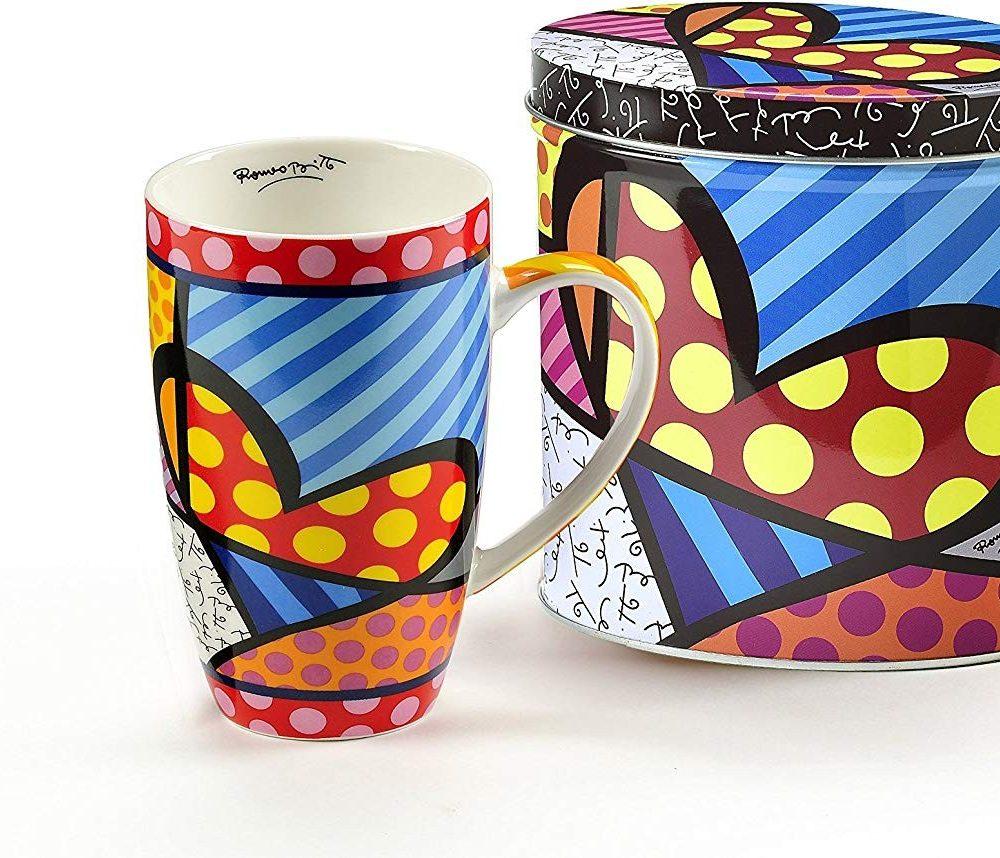 Mug Coeurs et boîte en Fer décorés Britto
