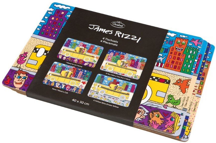 4 Sets de table James Rizzi