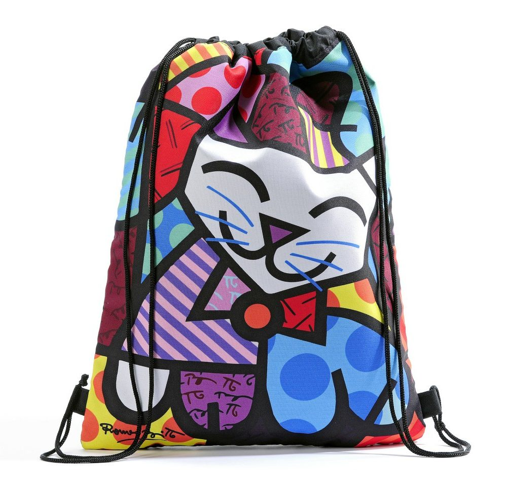Grand sac style Sport Britto motif Chat
