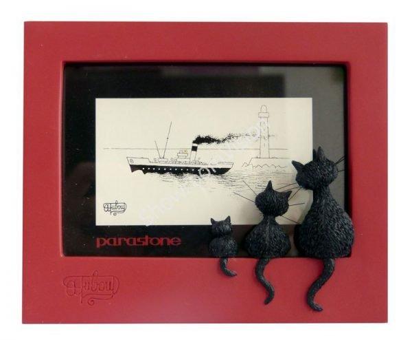 """Cadre photo Dubout """"Le Trio"""" Rouge"""
